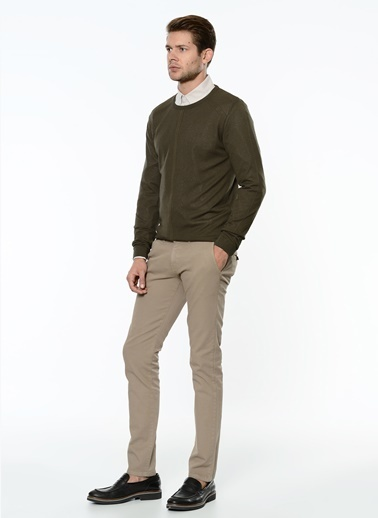George Hogg Slim Fit Chino Pantolon Vizon